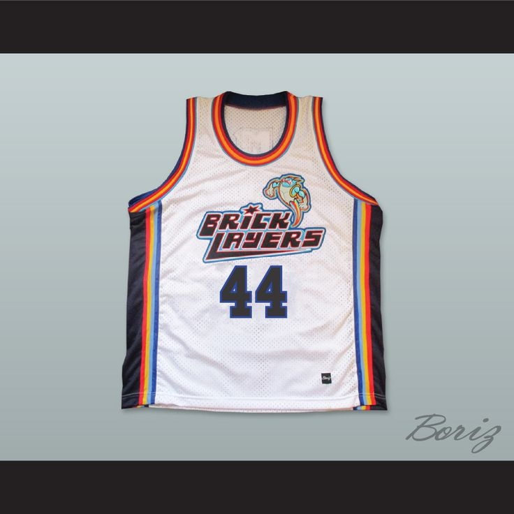 Eddie Cibrian 44 Bricklayers Basketball Jersey Sixth Annual Rock N' Jock B-Ball Jam 1996. STITCH SEWN GRAPHICS  CUSTOM BACK NAME CUSTOM BACK NUMBER ALL SIZES AVAILABLE SHIPPING TIME 3-5 WEEKS WITH ONLINE TRACKING NUMBER Be sure to compare your measurements with a jersey that already fits you. Please consider ordering a larger size, if you prefer a loose fit. HOW TO CALCULATE CHEST SIZE: Width of your Chest plus Width of your Back plus 4 to 6 inches to account for space for a loose fit…