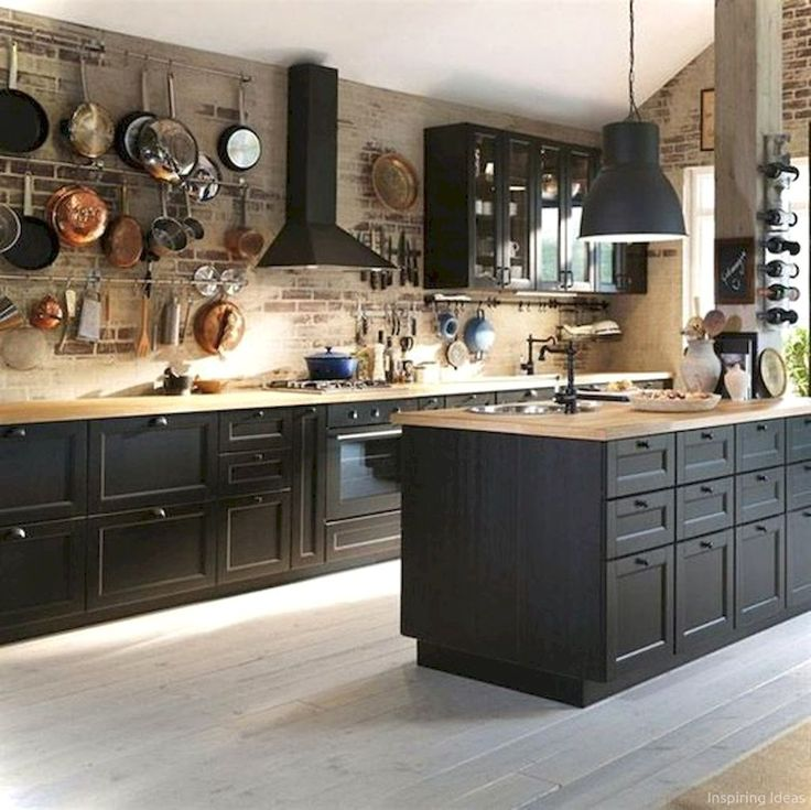 45 Nice Cottage Kitchen Cabinets Ideas Country Style & Best 25+ Black kitchen cabinets ideas on Pinterest | Black ... kurilladesign.com