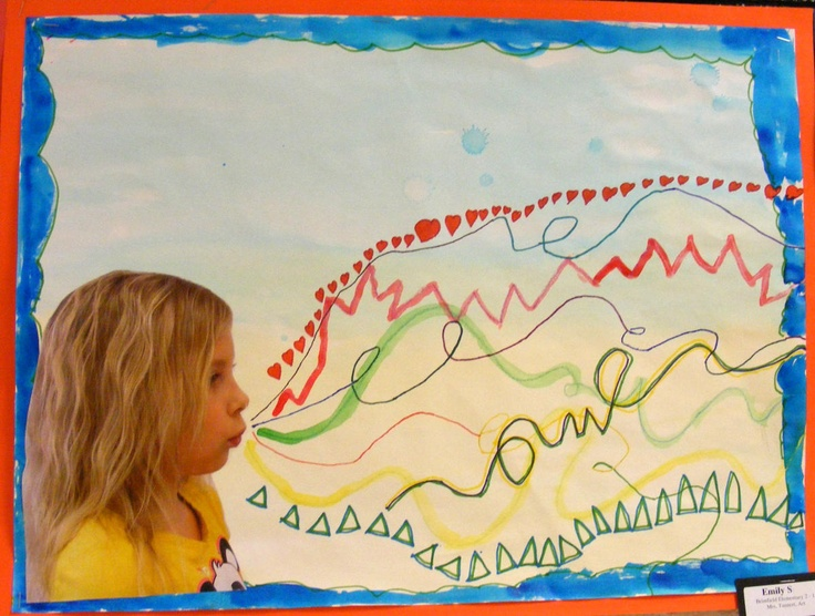 So cool....must do during colour unit! Field Elementary Art Blog!: 2nd Grade Line Studies