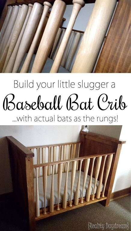 Build a crib for your little slugger USING BASEBALL BATS as the crib rungs!! {Reality Daydream}.jpg
