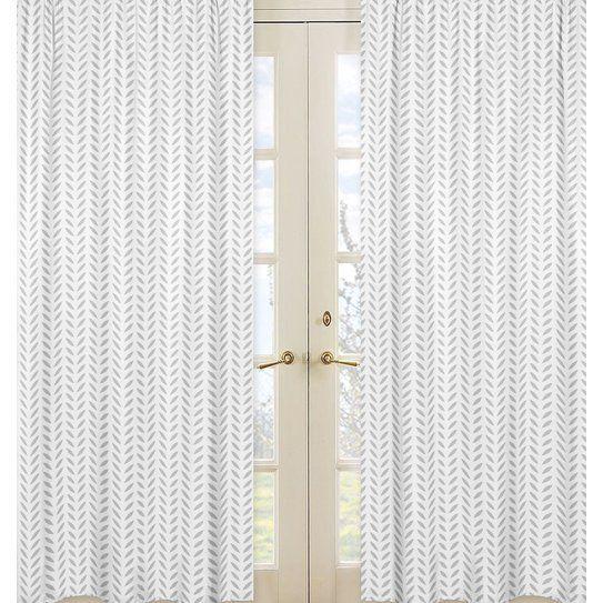 Forest Deer Nature/Floral Semi-Sheer Rod pocket Curtain Panels