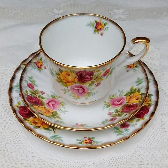 Royal Stafford Bouquet Bone China Trio of Cup Saucer and