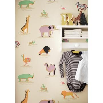 Buy Sanderson Two by Two Wallpaper | John Lewis