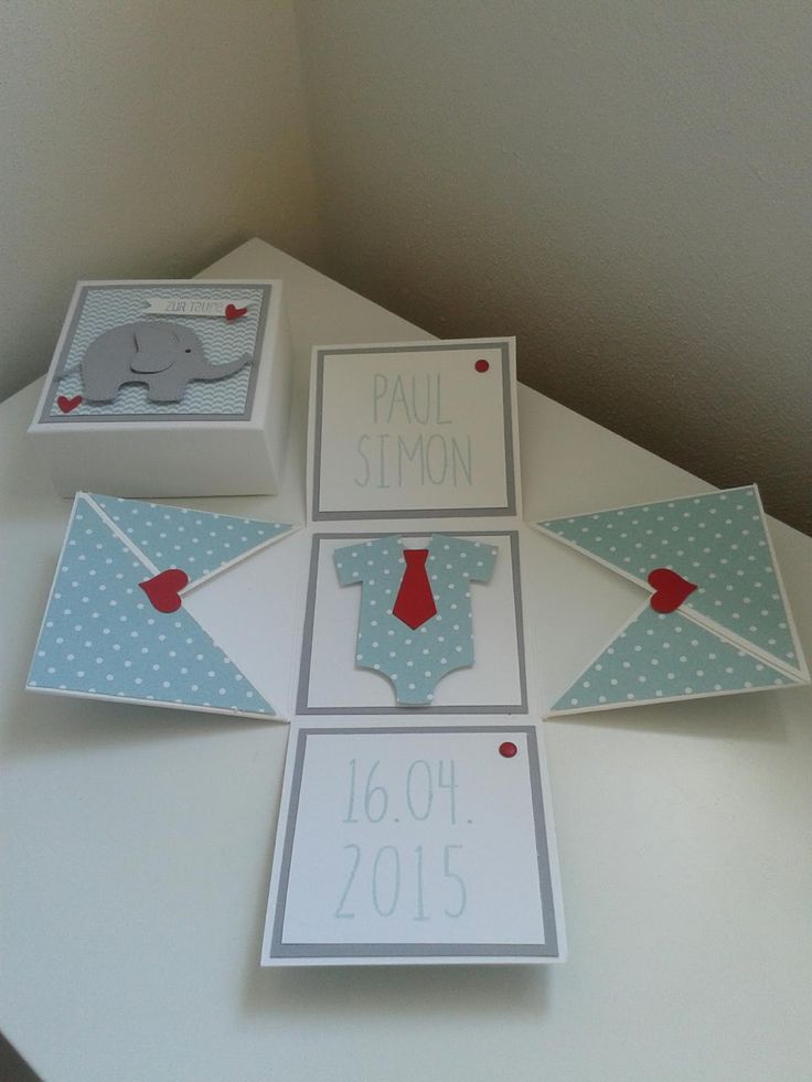 Time4Paper: Babybox / exploding box --nice way to wrap a gift card.