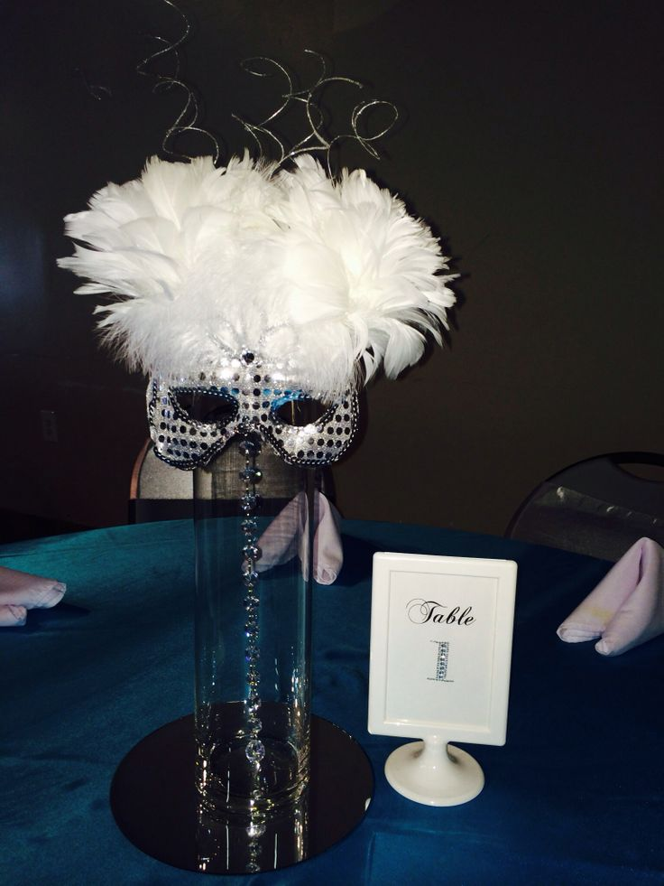 Masquerade Centerpiece Made With Feather Peonies By Ws