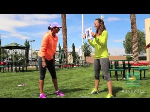 Hingis/Mirza Try Guessing Game | BNP Paribas Open Fun seeing Martina win the Doubles Championship Title with Sania at Indian Wells. Age means nothing to some of these fine players : ) Congrats!!!!