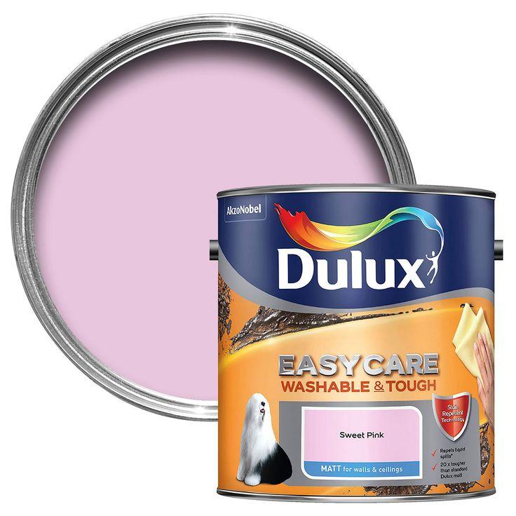 Dulux Easycare Sweet Pink Matt Emulsion Paint 2.5L | Departments | DIY at B&Q