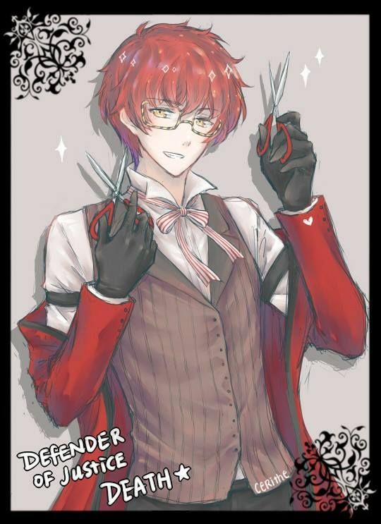 707 from Mystic Messenger as Grell from Black Butler