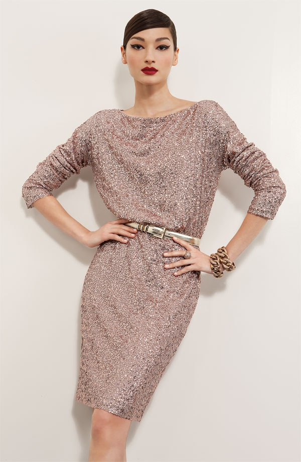 Dinner Party: St. John Collection Dress.  Just needs a pop of holiday color in the heels and it's party ready.