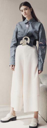 Серая джинсовая женская рубашка
