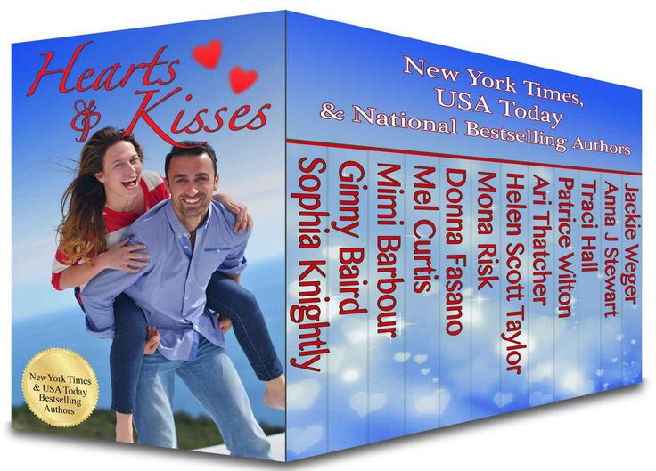 Hearts and Kisses: 12 Contemporary Valentine Novels and Novellas Boxed Set - Kindle edition by Sophia Knightly, Ginny Baird, Mimi Barbour, Mel Curtis, Donna Fasano, Mona Risk, Helen Scott Taylor, Ari Thatcher, Patrice Wilton, Traci Hall, Anna J Stewart, Jackie Weger. Romance Kindle eBooks @ Amazon.com.
