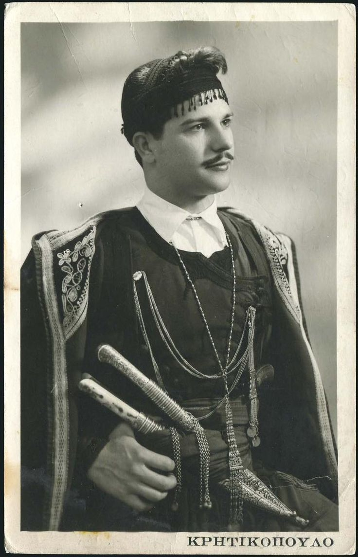 Cretan Greek man. Crete, Greece