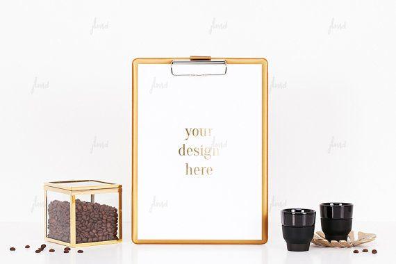 Styled Stock Photography  Gold clipboard  by JustLikeMyDesktop