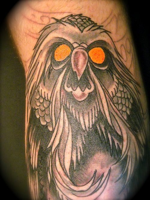 "Tattoo of the Great Owl from ""The Secret of NIMH"""