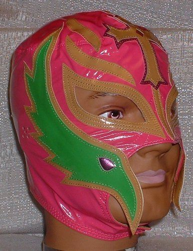 WWE Rey Mysterio Kid Size Replica Pink Mask by WWE. $27.90. Brand New Officially Licensed by WWE   WWE SUPERSTAR REY MYSTERIO KIDS SIZE PALE RED PRO-GRADE MASK   Series 1 WWE Rey Mysterio KIDS Size Replica Mask   Officially licensed by WWE   Made directly from Rey Mysterio's own mask   Fits most kids ages 8 & up (Simulated Leather)