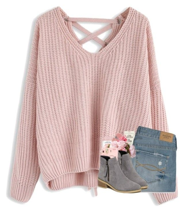 """""""happy february [contest]"""" by katie-1111 ❤ liked on Polyvore featuring Chicwish, Burberry, Kocostar, Bobbi Brown Cosmetics, Abercrombie & Fitch and Fujifilm"""
