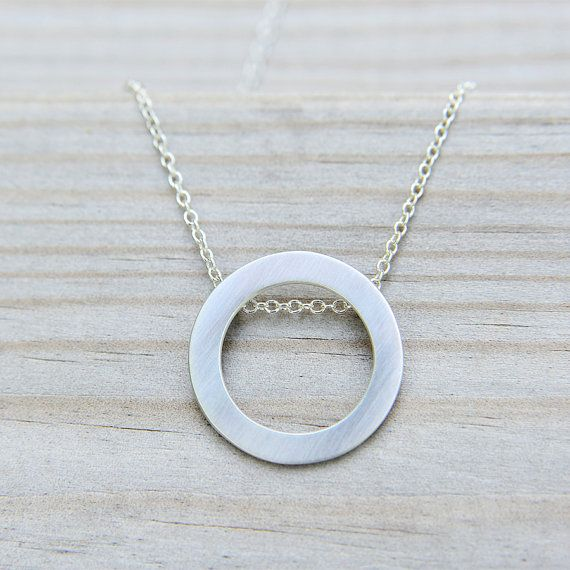 Memory Silver Circlet Pendant Modern and Simple by MonaPink