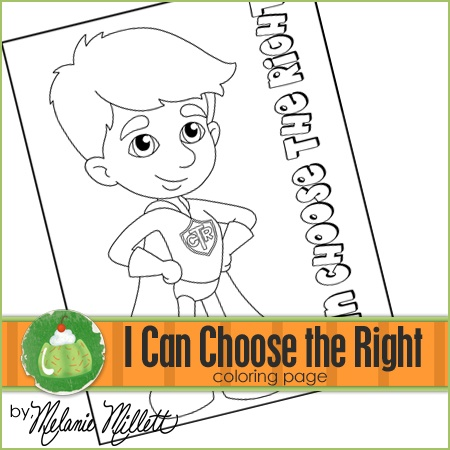Ctr super boy printable coloring page baptism lds for Ctr coloring page lds