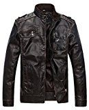 Wantdo Men's Vintage Stand Collar Pu Leather Jacket US X-Large Coffee  Wantdo  (4)  (Visit the Bestsellers in Leather & Faux Leather list for authoritative information on this product's current rank.) SOURCE: Amazon.ca: Bestsellers in Clothing & Accessories > Men > Coats & Jackets > Leather & Faux Leather