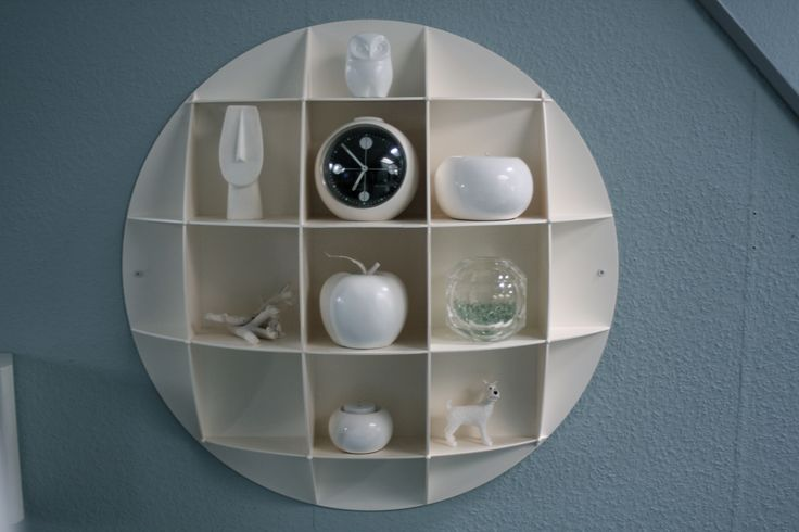 70s ABS plastic wall cabinet/shelf inspired by the famous Joe Colombo book shelf.