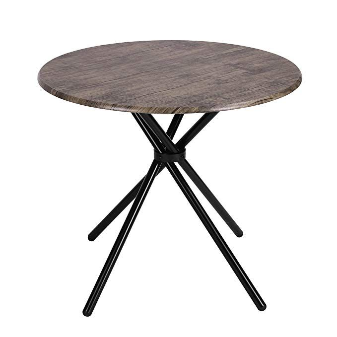 Kitchen Dining Table Industrial Brown Round Mid Century Wood Coffee Table Office Home Dining Table In Kitchen Industrial Dining Table Round Coffee Table Modern