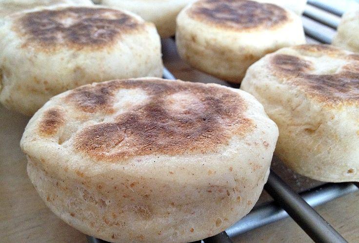 recetas fáciles de pan recetas delikatissen recetas de pan desayuno Recetas Americanas pan para brunch recetas English muffins integrales como hacer english muffins comida americana inglesa