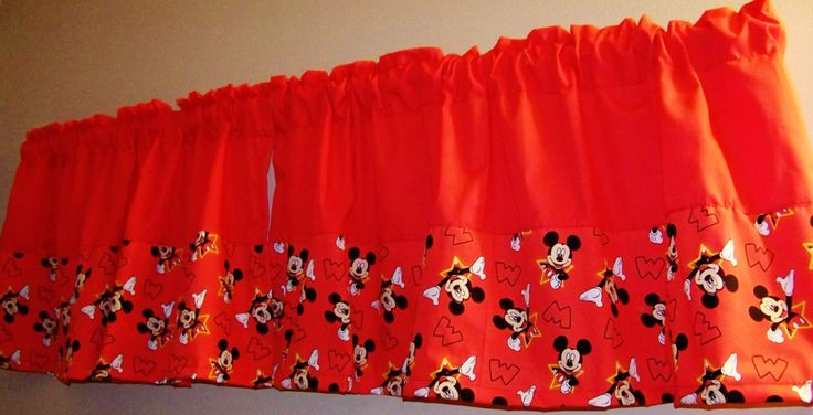 MICKEY MOUSE COLORBLOCK Valance, Boys Curtain, unisex  Curtain,Mickey mouse, Window Treatment, Curtains, Valance, Mickey,  Valance 42 x 16 by ANMARIKEDECORPLUS on Etsy