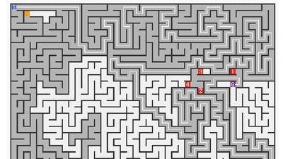 探索アルゴリズムを視覚的に楽しむ「迷路で眺める探索アルゴリズム」gigazine