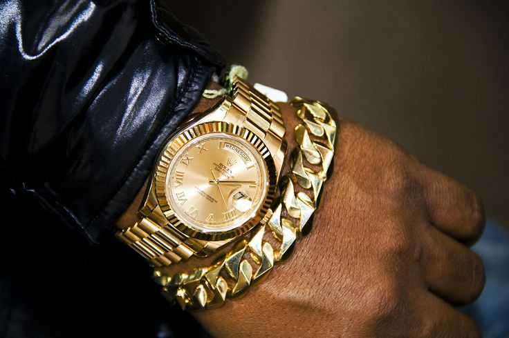 Rolex Presidential Watch with matching Cuban link Bracelet ...