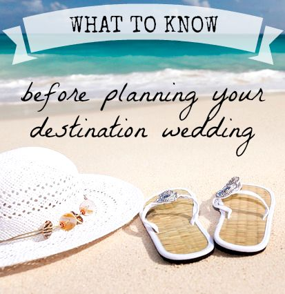What you should know before you start planning your destination wedding - tips and tricks. #wedding