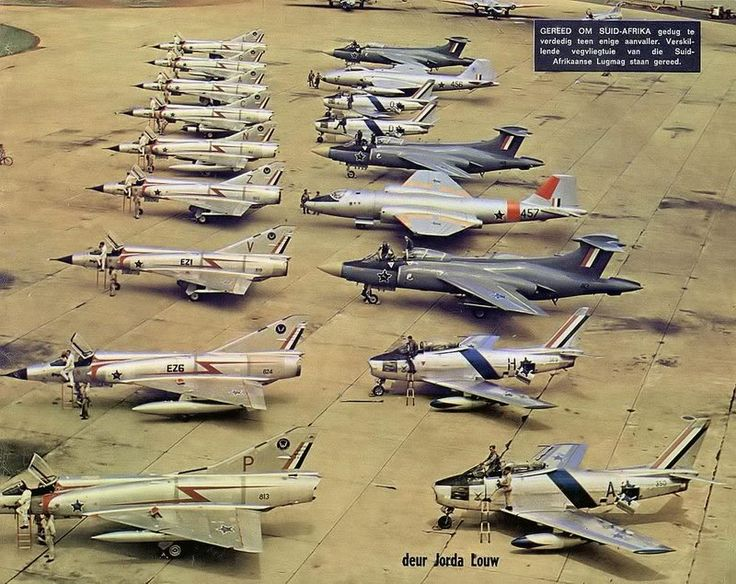 South African Air Force historical lineup.