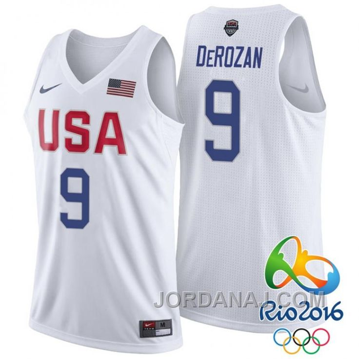 d2e2225b945f ... 9 DeMar DeRozan White Basketball Jersey Buy Klay Thompson USA Dream  Twelve Team 2016 Rio Olympics White Jersey from Reliable Klay Thompson Nike  ...