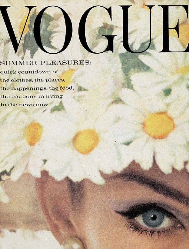 June 1962 Vogue Cover. Jean Shrimpton photographed by David Bailey. Editor: Alisa Garland