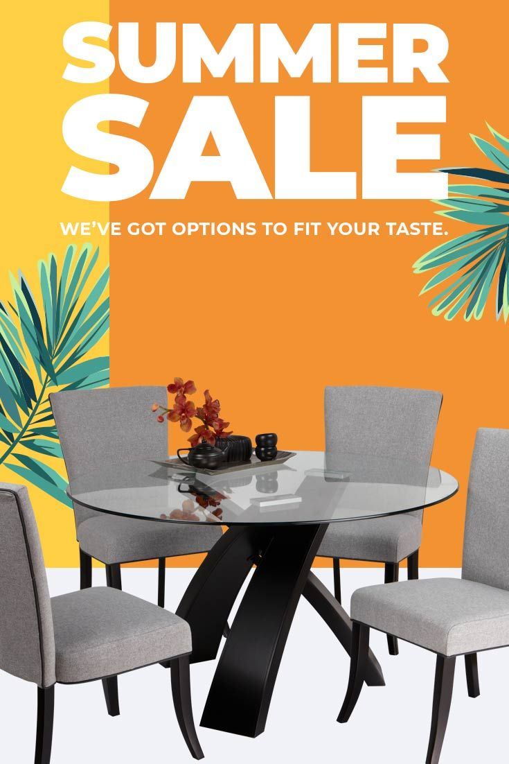 Our summer sale is happening now find your next dining room today from modern to rustic rooms to go has you covered
