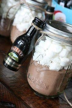 Bailey's hot chocolate gift idea