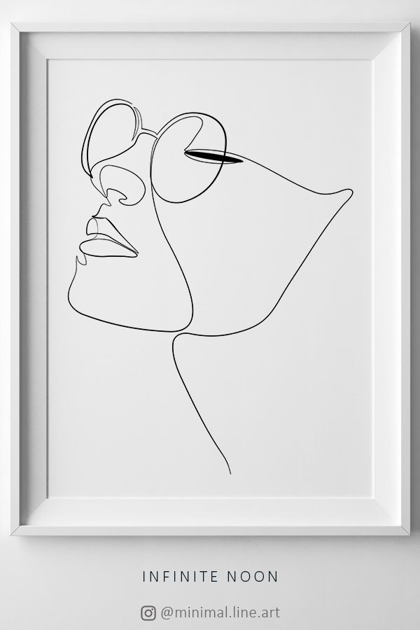 Einzeilige Gesichtszeichnung. Eine Zeile Gesicht Abbildung. Mode-Illustrationsdruck – Architektur und Kunst