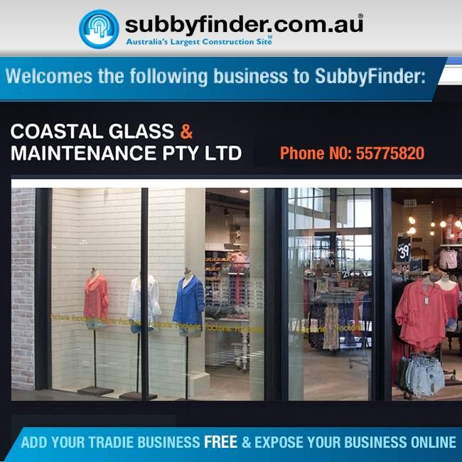 It's FREE to register your Tradie business on Subbyfinder.com.au Building your SubbyFinder profile is quick and easy. Fill out your industry experiences, industry type and any other forms of expertise in your industry #subbyfinder #tradie #tradies #CoastalGlass #Maintenance #PTY #LTD