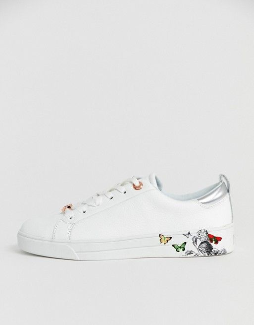 8cef11d98 Ted Baker white leather floral trainers in 2019 | Dicas Moda e Beleza -  Pins que gostamos | Floral sneakers, Ted baker sneakers, Floral trainers
