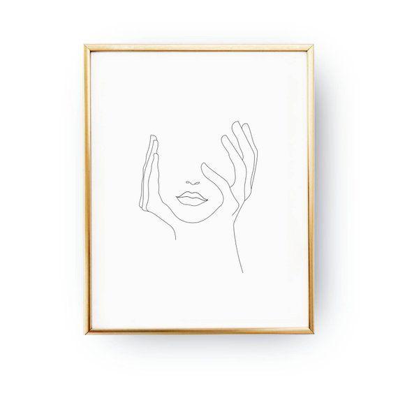 Lippen drucken, Schwarzweiß, Sketch Art, Strichzeichnung Print, minimalistische Frau drucken, Minimal Art, einfache Mode, Frau Kunst