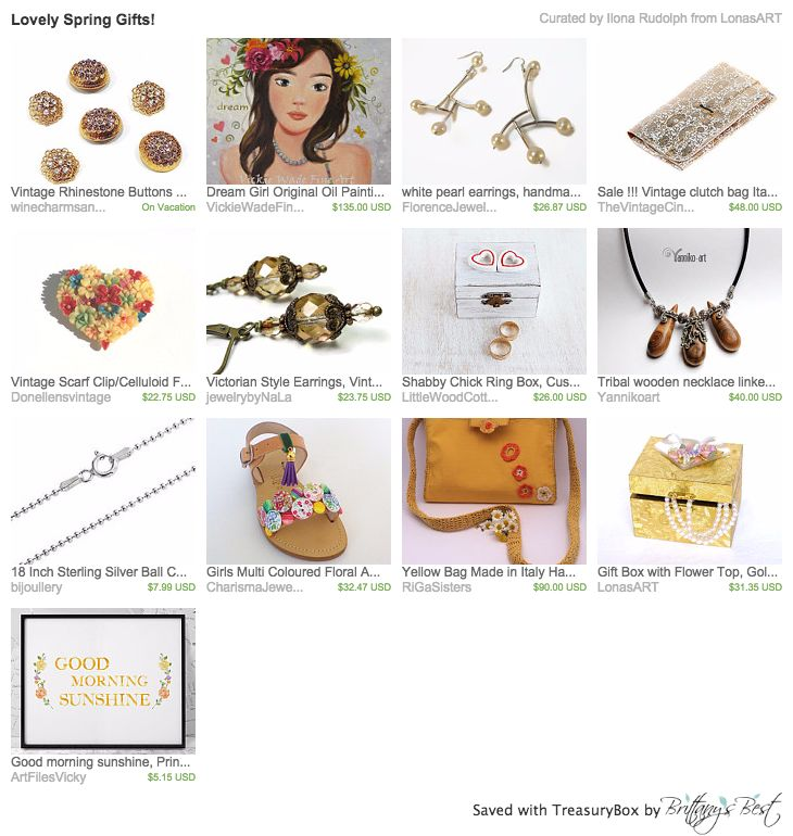 Our Yellow Bag in this beautiful treasury by LonasART <3 Thank you so much!!! https://www.etsy.com/treasury/MjQ1ODk5MTN8MjcyNzQ1NDIyNg/lovely-spring-gifts