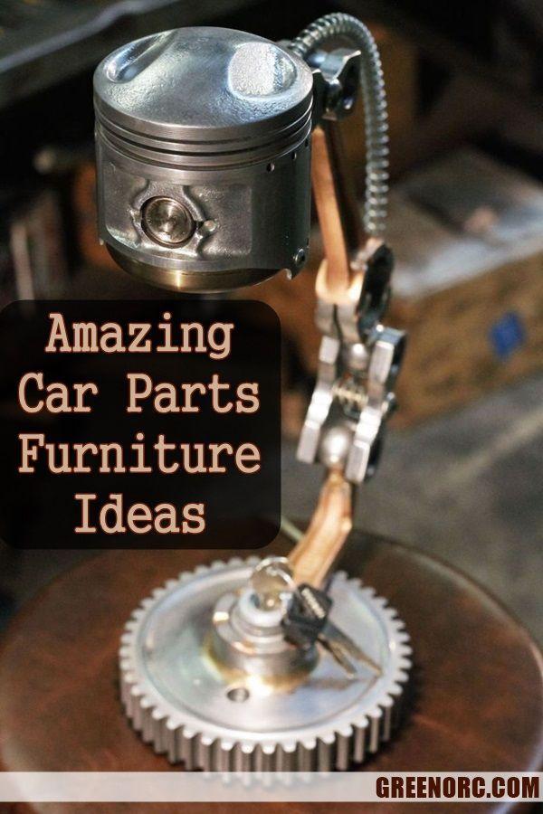 40 Amazing Car Parts Furniture Ideas - Greenorc
