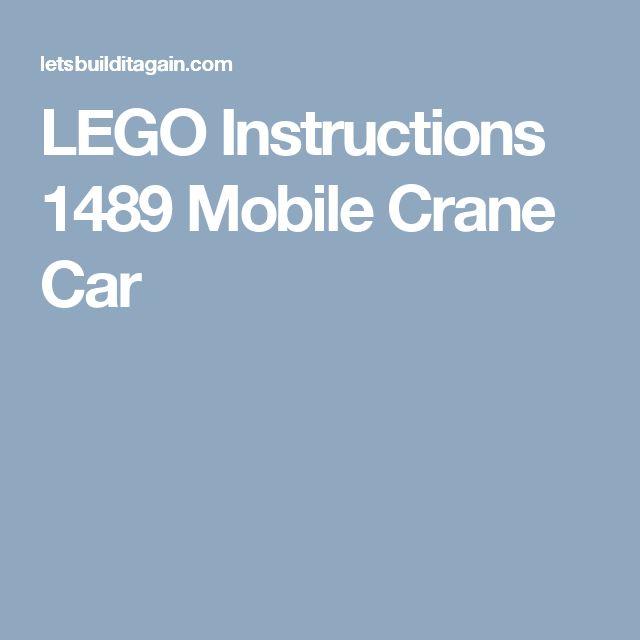 LEGO Instructions 1489 Mobile Crane Car