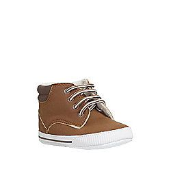 F&F Fleece Lined Trainer Boots 6-12 mths Brown