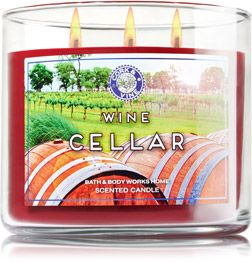 Wine Cellar 3-Wick Candle - Home Fragrance 1037181 - Bath & Body Works