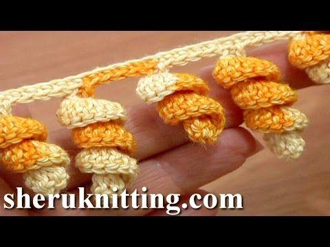 Crochet Spiral Edging Tutorial 1 Crochet Spiral Fringe - YouTube