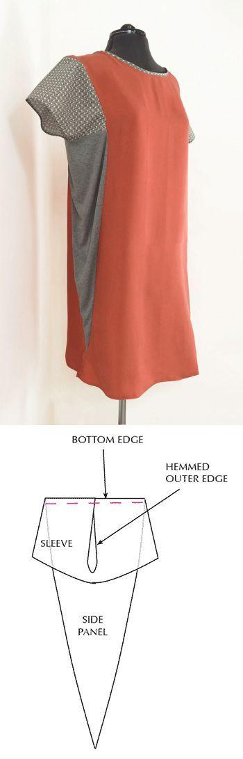 Панель платье.Выкройка.