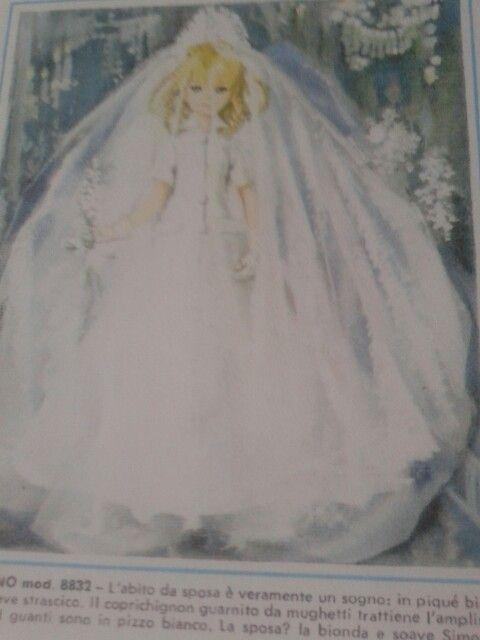 Vestito da sposa per bambole Furga-Italy anni 60
