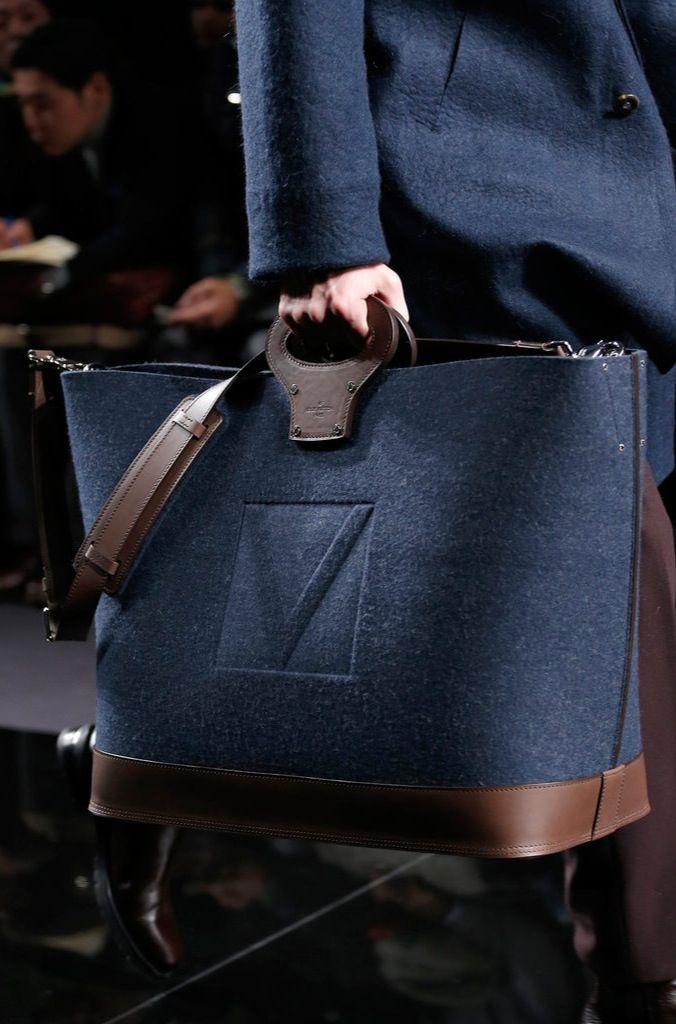 man's fashion accessories navy blue bag Louis Vuitton