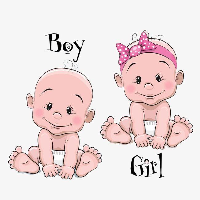 كرتون اطفال من الذكور والإناث طفل رسوم متحركة رسمت باليد الطفل Png وملف Psd للتحميل مجانا Baby Cartoon Drawing Baby Drawing Baby Cartoon