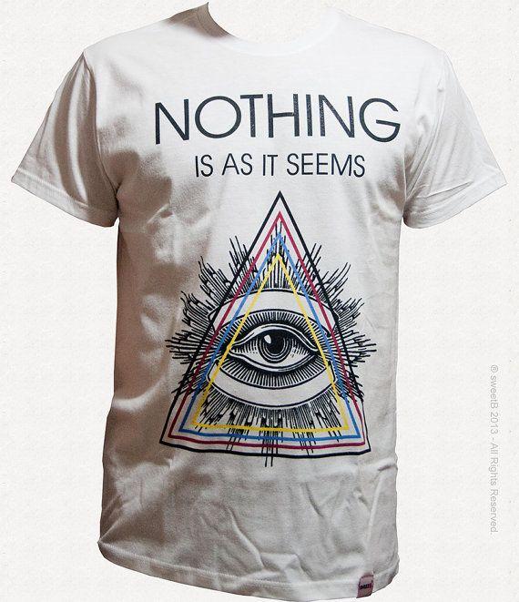 Illuminati T-shirt: Nothing is at it seems Style: Tubular construction -  SLIM
